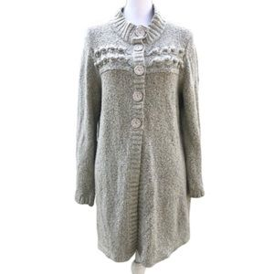 Style & co knit buttons open front cardigan sz XL